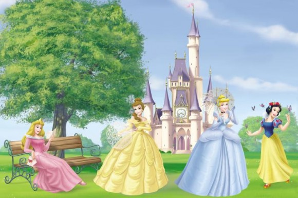 Cinderella, Snow White, Aurora/Sleeping Beauty and Belle