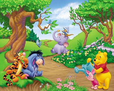 Winnie the Pooh, Eeyore, Tigger, Piglet, Lumpy and Roo