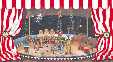 Under the Big Top Circus Wall Mural