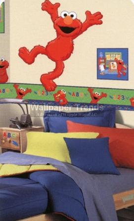 Sesame street wallpaper trends for Elmo wall mural