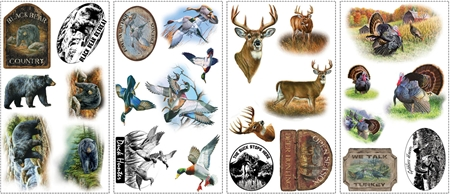 American Wildlife Wall Decals Set