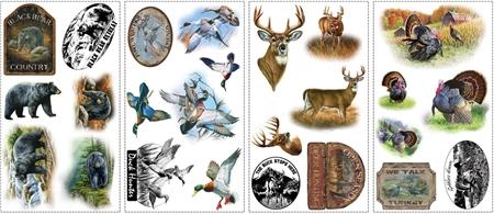 American Wildlife Wall Decals Set