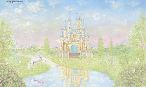 Castles wallpaper trends for Disney castle mural wallpaper