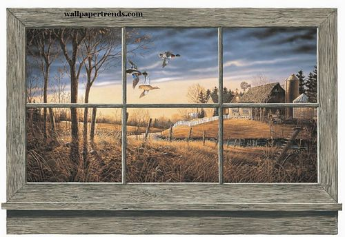 Lodge and Cabin Accessories lodge and cabin wall window wallpaper mural