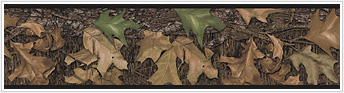 Lodge and Cabin Accessories camoflauge mossy oak camo camoflage wallpaper border