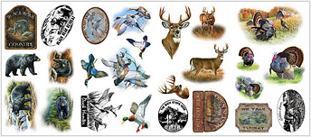 Lodge and Cabin Accessories deer hunting decals wall stickers wallies