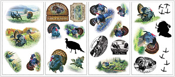 Lodge and Cabin Accessories turkey hunting decals wall stickers wallies