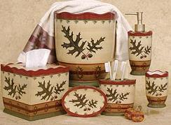 lodge and cabin accessories oak leaf cabin decor