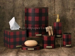 lodge and cabin accessories red plaid lodge cabin decor