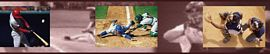 Baseball Action Mural Wall Border 258B75069