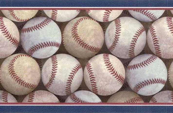 MLB Baseball Home Decor Pile Wall Border