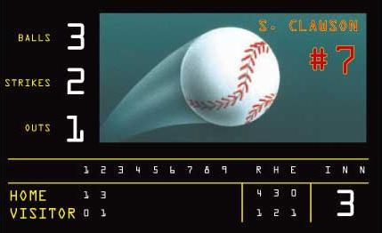 Baseball Stadium Score Board Wall Mural 5815042 title=