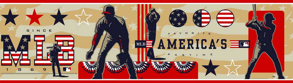 America's Pastime Wall Borders 5815285 title=