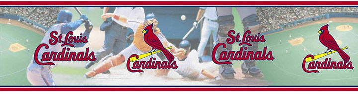 St Louis Cardinals Wall Border
