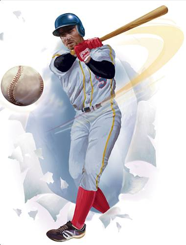 Baseball Player Break-Out Self Stick Wall Mural 852182