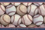 Baseball Pile Wall Border 5804895