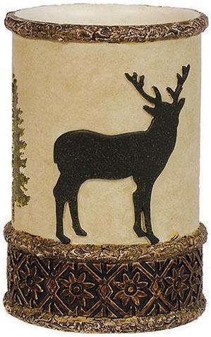 Moose Cabin  bathroom Cup Tumbler
