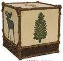 Moose Cabin bathroom tissue box holder