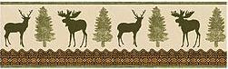 Moose Cabin bathroom wallpaper borders