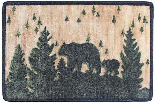 Moose Lodge  bathroom Bathroom Rug