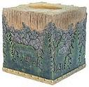 Moose Lodge bathroom tissue box holder