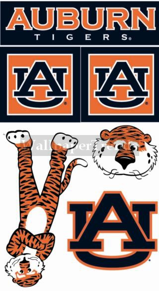 AU Auburn University Tigers Wall Decals Removable Wall Stickers~FREE ...