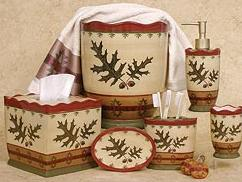 Superbe Oak Leaf Bathroom Vanity Accessories