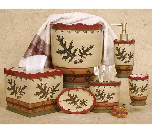 Oak Leaf  bathroom Accessories Set
