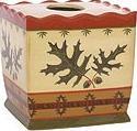 Oak Leaf bathroom tissue box holder