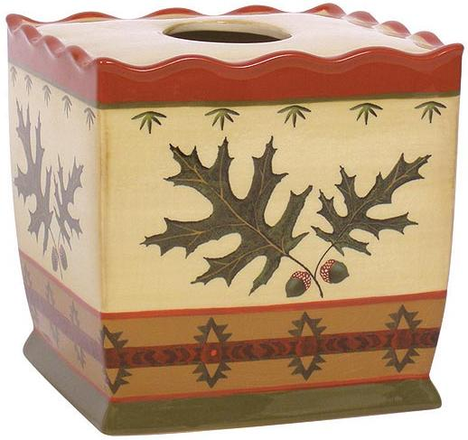Oak Leaf  bathroom Tissue Box Holder