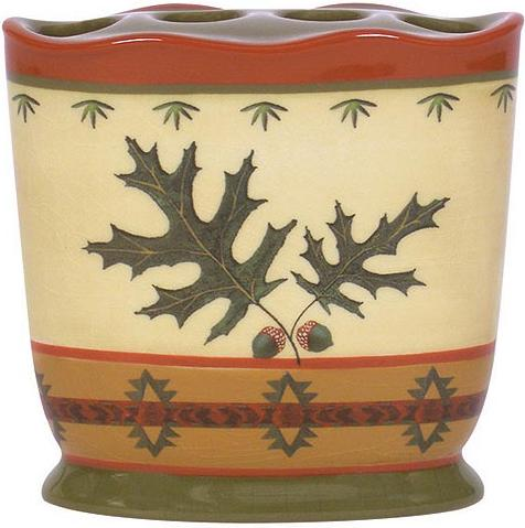 Oak Leaf  bathroom Toothbrush Holder