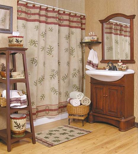 Oak Leaf Bathroom Accessories Room Shot
