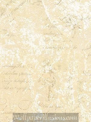 5812296 Script Pearl and Cream Paper Illusion Faux Finish Wallpaper