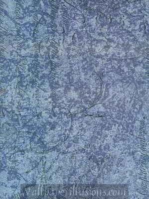 5812298 Script Cobalt Blue Paper Illusion Faux Finish Wallpaper
