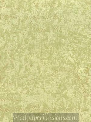 5815130 Script Green Apple Paper Illusion Faux Finish Wallpaper