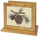 Pinecone Lodge Kitchen Decor Napkin Holder