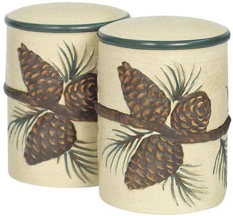 Pine Cone Lodge  bathroom Kitchen Salt and Pepper Shakers