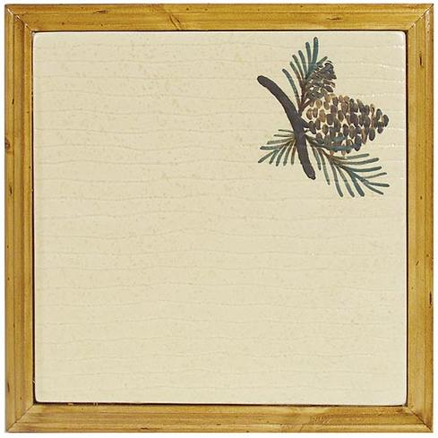 Pinecone Lodge Kitchen Decor Trivet