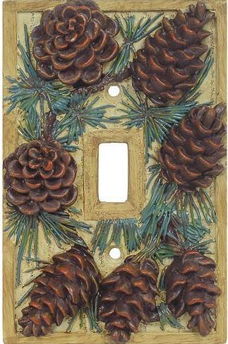 Pine Cone Lodge  bathroom Kitchen Switchplate Cover