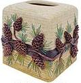 pine cone lodge tissue box cover