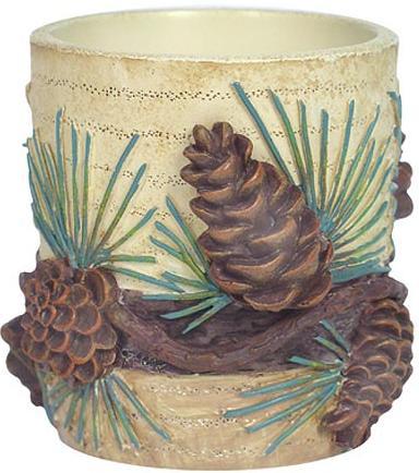 Pine Cone Lodge  bathroom Bathroom Votive Candleholder