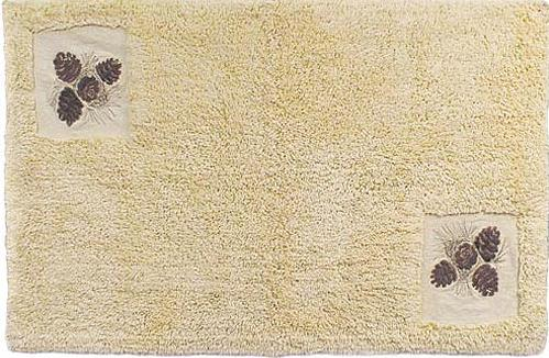 Pine Cone Lodge  bathroom Bathroom Rug