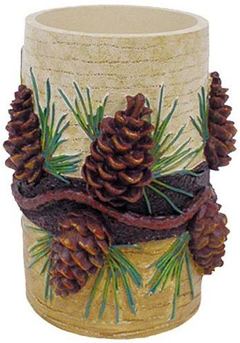 Pine Cone Lodge  bathroom Cup Tumbler