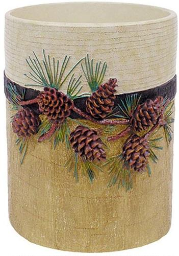 Pine Cone Lodge  bathroom Designer Trash Can