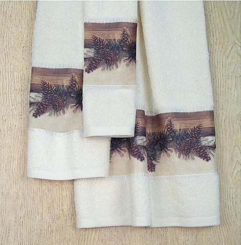 Pine Cone Lodge  bathroom Bathroom Bath Towels
