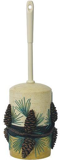 Pine Cone Lodge  bathroom Toilet Bowl Brush