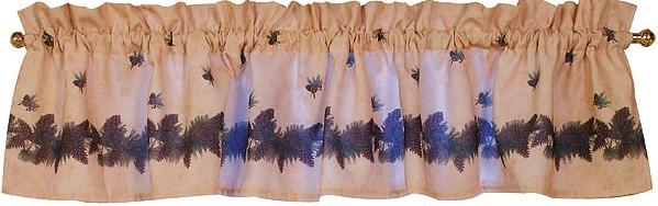Pine Cone Lodge  bathroom Window Valance