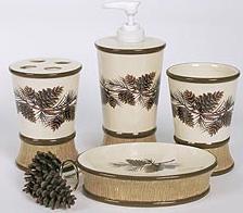 Pine Lodges bathroom vanity accessories