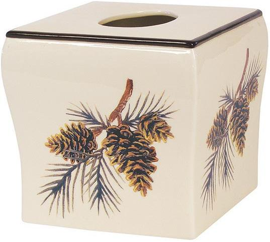 Pine Lodges  bathroom Tissue Box Holder