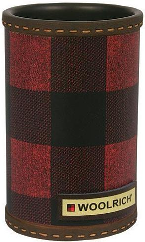 Red Plaid  bathroom Cup Tumbler